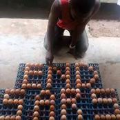 See How A Guy Used Creates Of Eggs To Display EndSars On Facebook That Got People Talking (Photo)