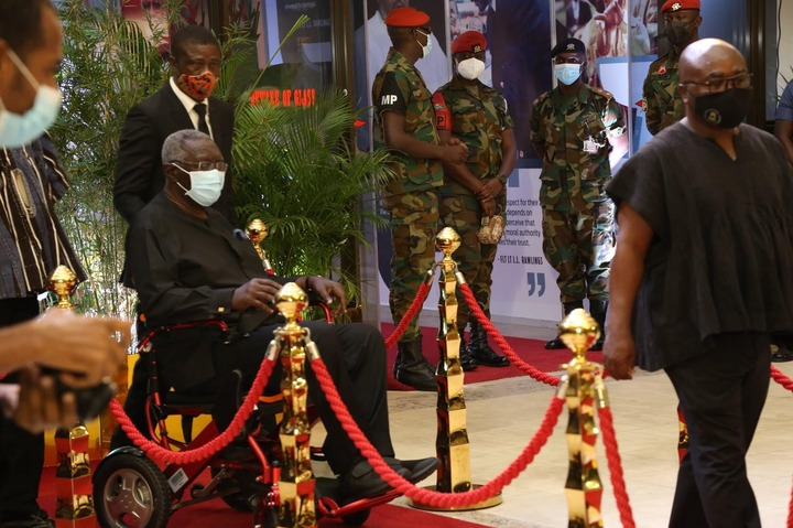40ce6a455015472499a949c046b2d7f0?quality=uhq&resize=720 - Photos: Ex Prez. Kufuor Pays His Last Respect To His Political Rival, JJ Rawlings As He Goes Home Today