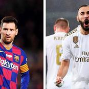 After Benzema Scored In El Classico Yesterday, See How The Laliga Goalscorers Table Now Looks Like