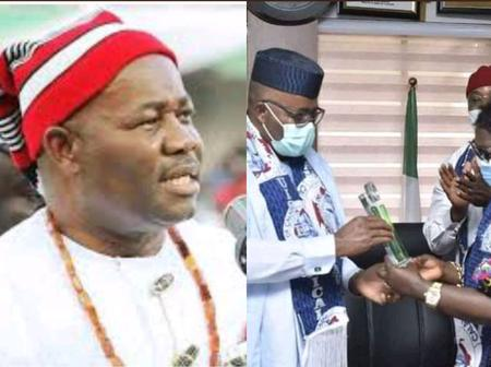 PHOTOS: Akpabio Received Ambassadorial Award From His Alma Mater, University Of Calabar