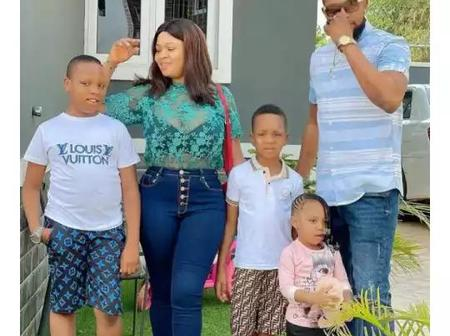Check Out Photos Of Nollywood Actor, Shaggy Bes, And His Wife Who Is Also An Actress