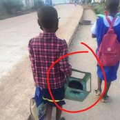How can we explain that these two children are going to the same school?