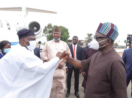 Ortom Receives Colleagues at Makurdi Airport for PDP Governors Meeting