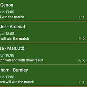 Sunday Six Correct Score(CS) Both Teams to Score & Over 2.5 Goals To Bank On i.e Manchester United