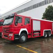 Malaba Fire Engine Awaiting Shipment From Shengli China