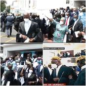 [Photos] Legal Team Of Akufo-Addo Jubilate After They Were Declared Victors