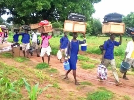 Why SHS students were denied entry into their schools after arriving at the school