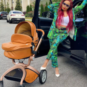 See Fans Reaction as Nina Ivy Shares Photo of Herself, and Baby Denzel in a stroller