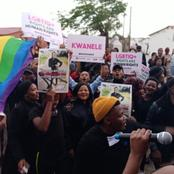 Gay Community in South Africa are on the Street Protesting. (See why)