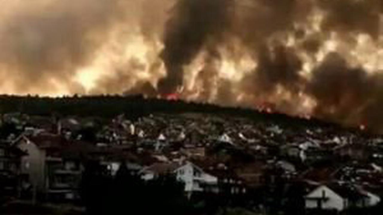Important incendie de forêt dans l'Est de la Macédoine