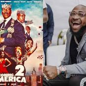 Watch How Davido Reacted When He Watched Himself Perform At The Coming To America Sequel Last Night