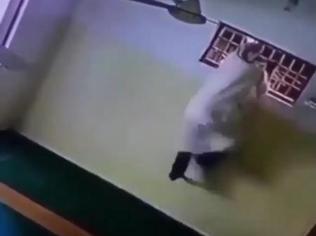 Man Captured in a CCTV Camera Stealing Bulb at the Mosque