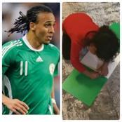 EndSARS: Ex Nigeria Star Odemwingie Surprised To See Young Daughter Sophia Making Nigerian Flag