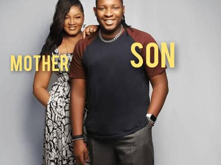 Meet The Son Of Actress Omotola Jalade Who Is A Talented Singer And A Music Producer (Photos)