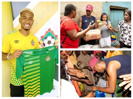 Brazilian Winger Who Plays In Nigerian League Takes To The Street, Feeds Children & Mothers (PHOTOS)