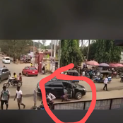 Reactions as a lady dropped from a Lexus jeep at Nnamdi Azikiwe University school gate runs mad