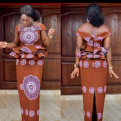 Do You Desire To Look Foreign? Here Are the Latest Ghanaian Kaba And Slit Styles For You