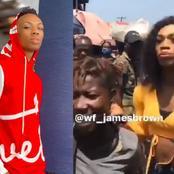 Video: James Brown Shopped In Lagos Market, See How She Draws People Attention