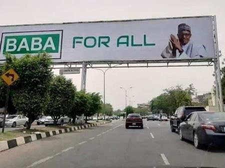 Is Buhari Trying To Run For 3rd Term- Man Cried Out After He Noticed Billboard Of Him All Over Abuja