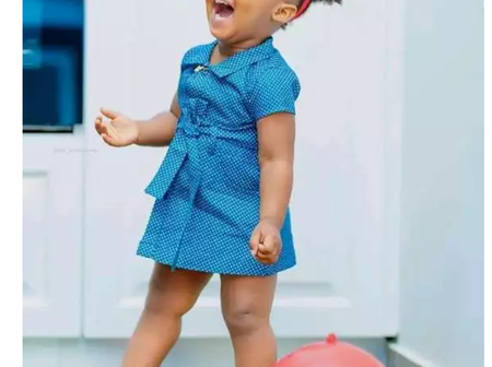 See the beautiful child of one of the celebrity in Ghana