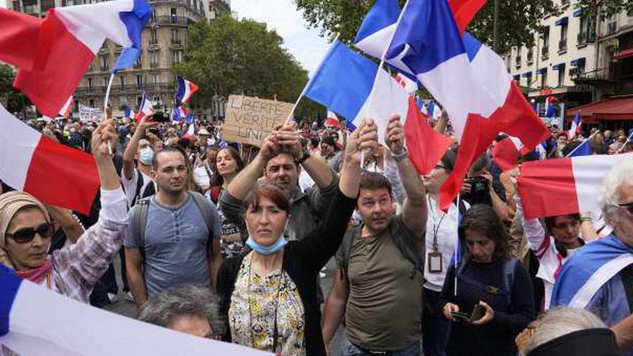 Wieder Grossdemonstrationen gegen Corona-Regeln in Frankreich