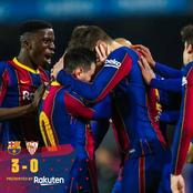 See Reactions As Barcelona Achieves Thrilling Comeback Win Against Sevilla