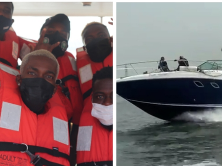 Reactions As The Super Eagles Of Nigeria Were Spotted On A Boat Travelling To Porto-Novo