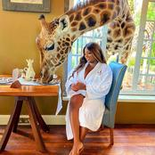 I Didn't Know Giraffe Could be This Friendly Until I Saw it Doing This to Dorathy (Photos)
