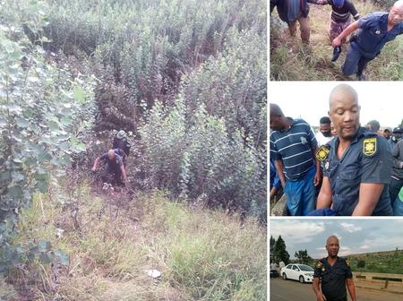 A police man rescued a granny from committing suicide in the river, Free State!