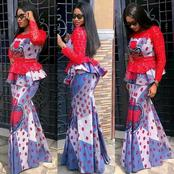Eye-catching long Ankara skirt and blouse styles for elegant ladies