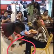 Watch: Guy snatching out sneakers he bought for his girlfriend after finding out she cheated on him