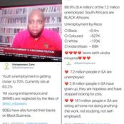 The High Unemployment Rate Of Black South Africans Has Caused A Stir On Social Media.
