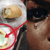 See What a Young Lady Found Inside a meat pie She Bought in Igbo Land That is Causing Reactions