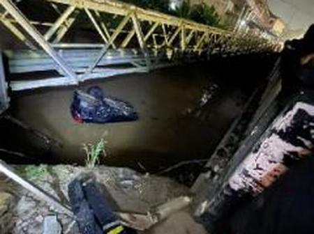 Overspeeding driver hits 2 lovers, drags them into river at Agona Swedru