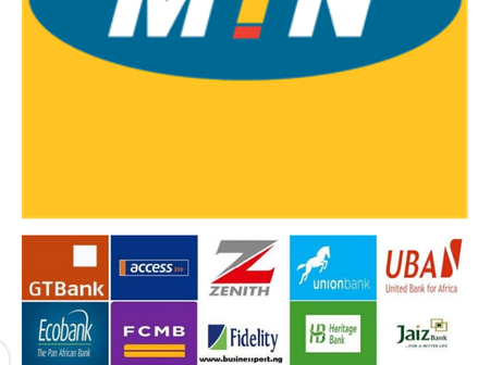 Banks removes MTN services from their banking channels, subscribers unable to recharge their phones.