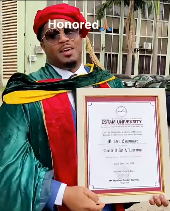Congratulatory messages as Mike Ezuruonye graduated with doctorate degree from Estam University 11