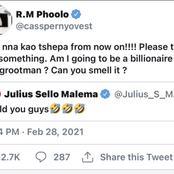 CASSPER NYOVEST asked Julius Malema if he will become a billionaire