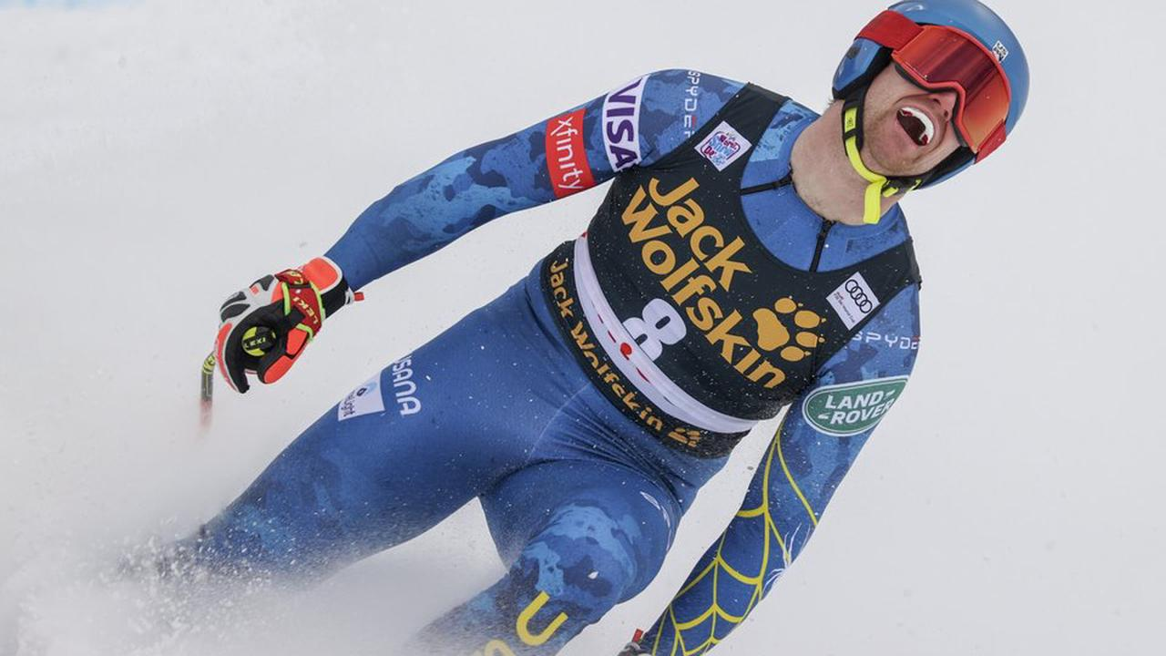 US skier Cochran-Siegle dominates super-G for 1st career win