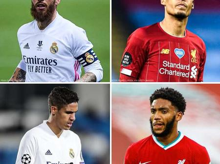4 defenders that will be missing out on Real Madrid vs Liverpool's Champions League clash