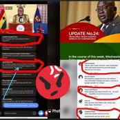 See Unexpected Reactions From Ghanaians While President Akufo Addo Was Giving His Address