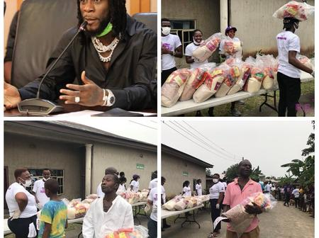 Burna Boy Provides Food To Families In Rivers State To Celebrate Grammy Win