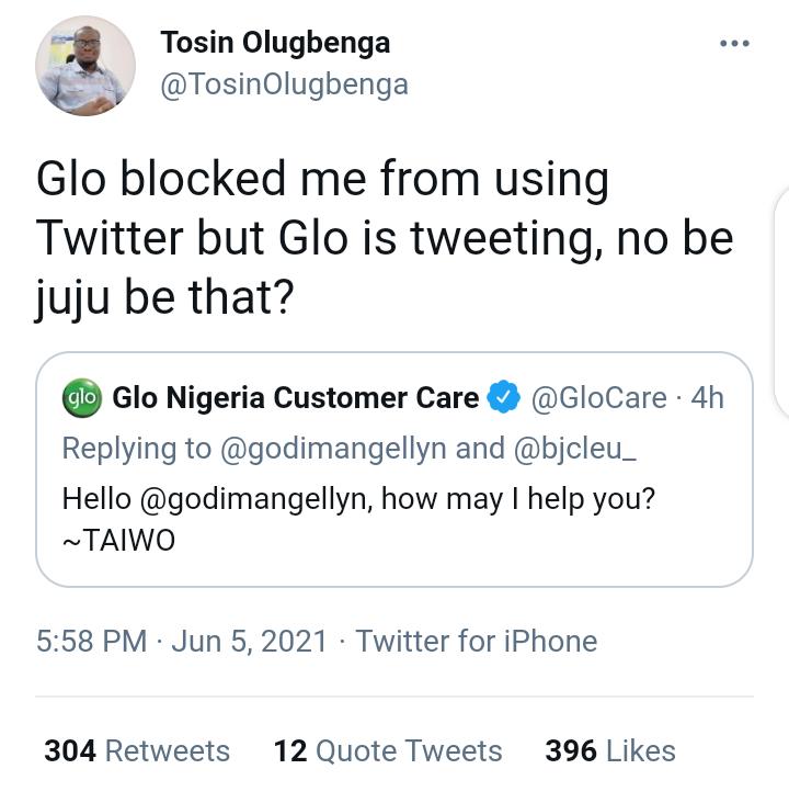 Glo is tweeting