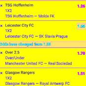 Tonight Six Correct Score (CS), GG & Over 2.5 Goals To Bank On i.e Leicester, Manchester United.