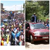 Gideon Moi Pulls Few People As Ruto Enjoys A Mammoth Crowd In Murang'a