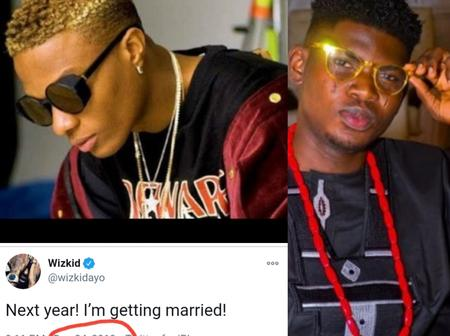 Man Reminds Wizkid To Get Married Before 2021 (Photos)