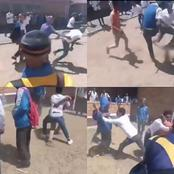 Watch : Schools Are Opened & School Kids Are Back At It. Coloureds Fighting.
