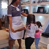 Kumbe Diana Bahati wears Uniform. See how lovely she looks