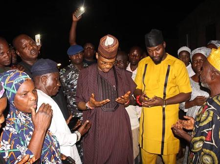 Turnout of Residence as Shina Peller Pays Condolence Visit to Oko Oloyun's Family, Shabiganna King