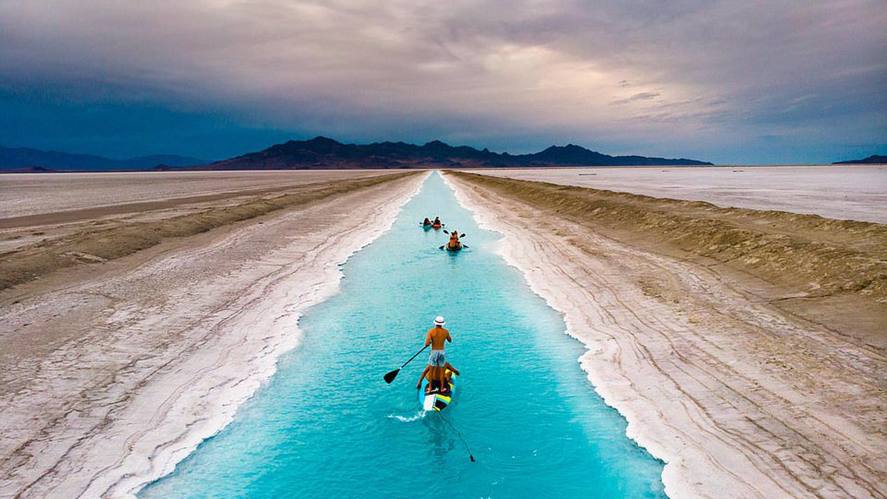 Instagram influencers are ordered to stay away from Utah's 'blue canal' due to potential toxic hazards - after thousands descended on the site in the hopes of snapping a viral photo