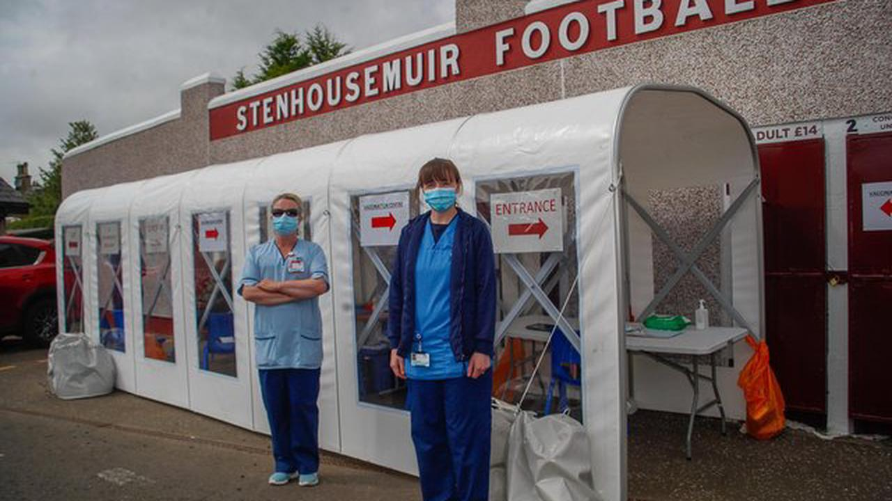 Stenhousemuir FC running drop-in COVID-19 vaccination clinics
